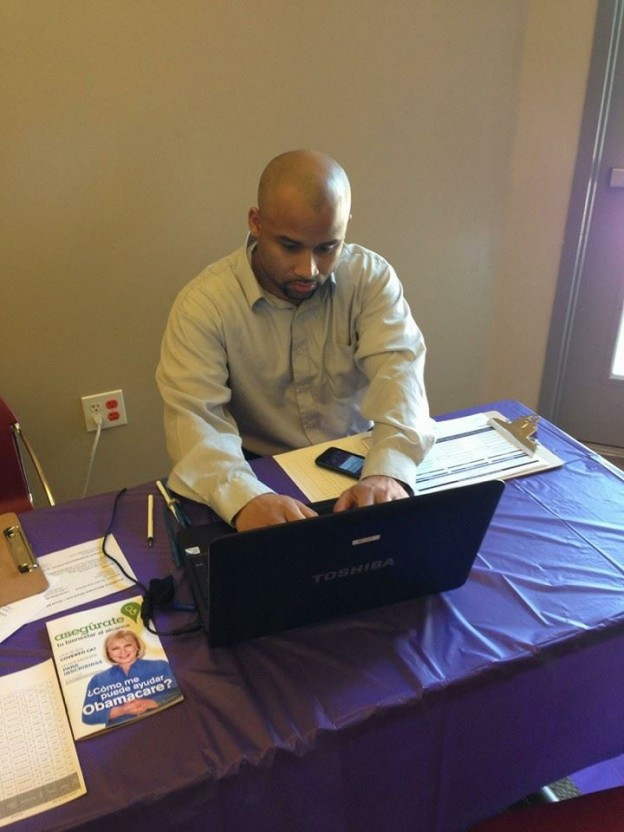 Volunteering at Health Care Enrollment in with the Sacramento Urban League Young Professionals