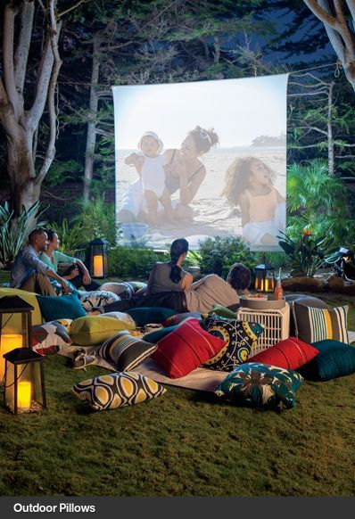 Watching Movies While Camping